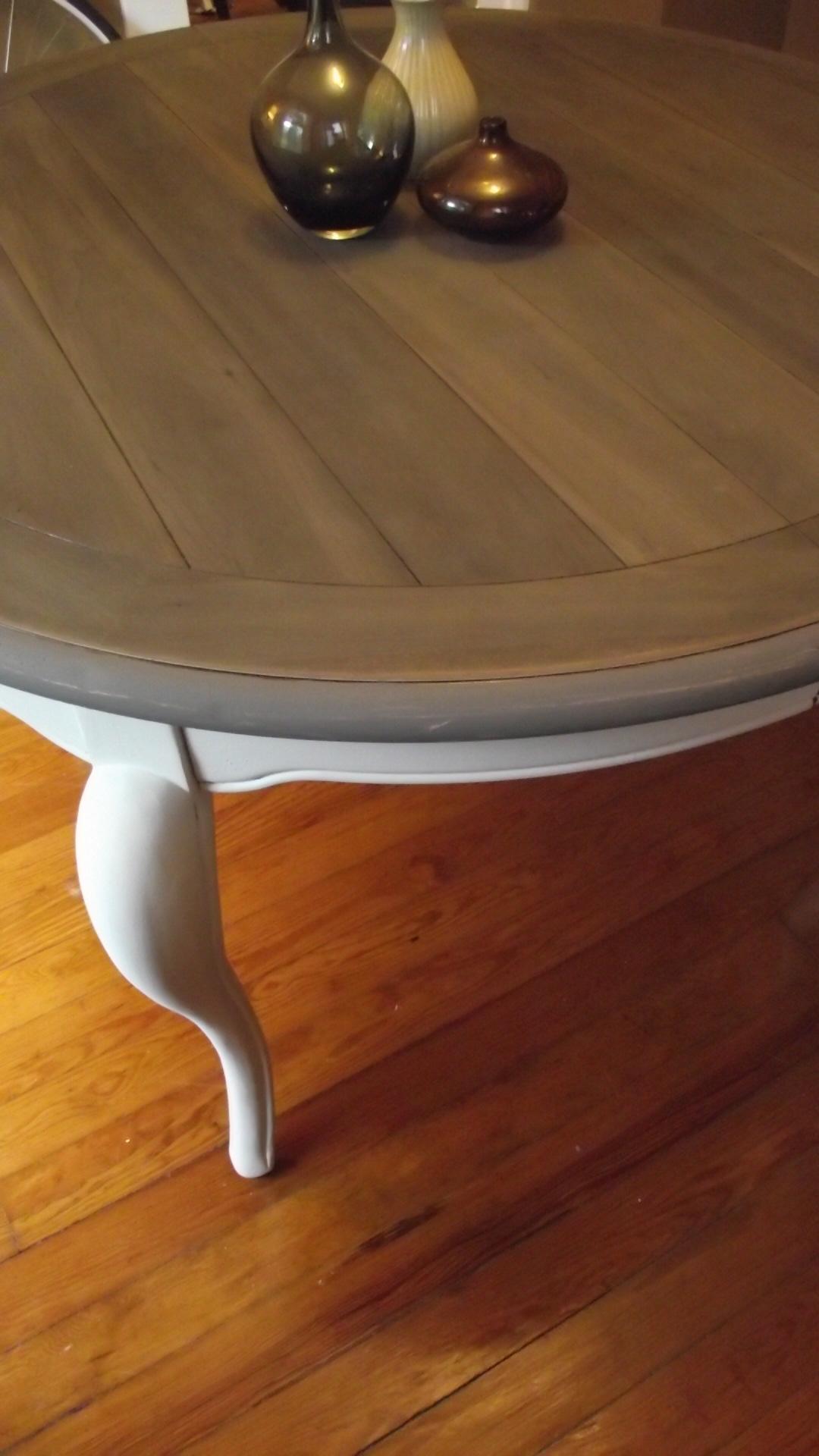 Table With Tea Steel Wool Vinegar Stain