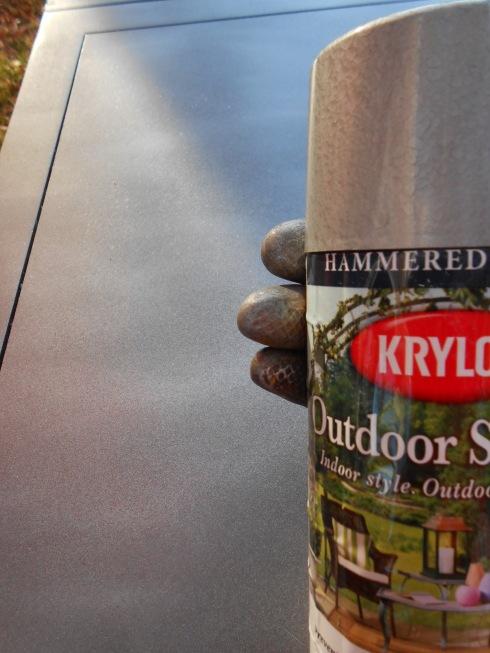 Krylon Outdoor Spaces Hammered Metal Spray Paint