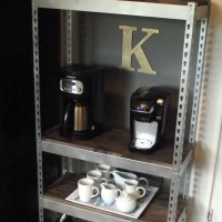 Small Space Solution: DIY Industrial Shelves
